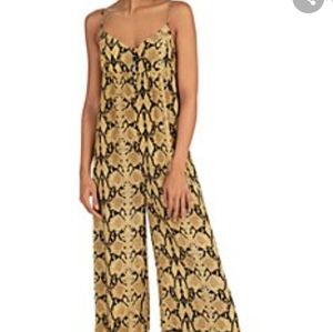 Current air Los Angeles yellow gold jumpsuit
